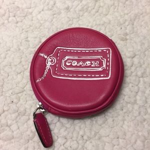 Coach pink coin purse